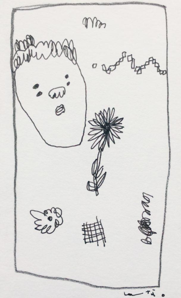 丸い鼻、花