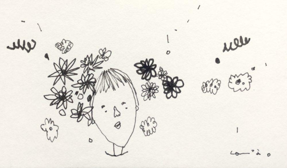 お花畑の子